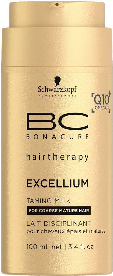 Bonacure Смягчающее молочко Excellium Taming MILK 100 млFS-00897Смягчающее молочко BC Excellium - это разглаживающий бархатный крем для защиты волос при сушке феном. Катионные ухаживающие ингредиенты и фильм формеры защищают кутикулу от чрезмерного нагрева. Пантенол обеспечивает дополнительное увлажнение, а липиды Omega 3 питают, разглаживают и усиливают блеск