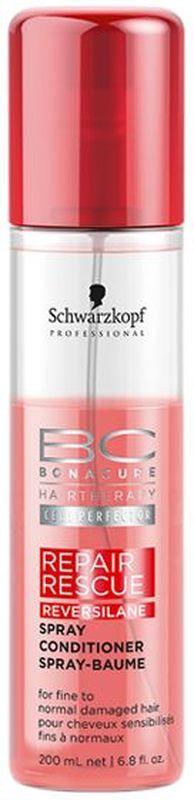Bonacure Спасительное Восстановление Спрей-Кондиционер Repair Rescue Spray-Conditioner 200 мл2015296Несмываемый спрей - кондиционер с мгновенным восстанавливающим эффектом для поврежденных волос. Заряжает волосы жизненной энергией. Облегчает расчесывание, придает натуральный блеск. Мгновенно улучшает состояние волос делая их мягкими и послушными. Рекомендуется использовать в комплексе с шампунем BC Repair Rescue.