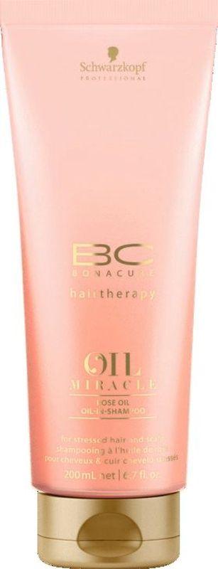 Bonacure Шампунь для кожи головы и волос Oil Miracle Rose Oil Shampoo 200 млMP59.4DШампунь для кожи головы и волос, подверженных стрессу с содержанием раскошных экстрактов дамасской и дикой розы. Очищает воздушной пеной, успокаивает и увлажняет, даря стойкий и нежный аромат волосам. Технология микро-эмульсии делает волосы гладкими и блестящими без утяжеления. Рекомендуется использовать с маслом для кожи головы и волос BC Oil Miracle Rose.