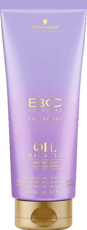 Bonacure Восстанавливающий шампунь Барбери Oil Miracle Shampoo 200 мл2074778Восстанавливающий шампунь для сухих и ломких волос с маслом берберийской фиги максимально питает и разглаживает сухие и ломкие волосы придавая им блеск и гладкость. Уникальная микроэмульсионная формула с микронизированным кератином восстанавливает и питает волос изнутри. Рекомендуется использовать с восстанавливающим молочком BC Oil Miracle Barbary Fig и; или восстанавливающей маской BC Oil Miracle Barbary Fig и; или восстанавливающим маслом BC Oil Miracle Barbary Fig.