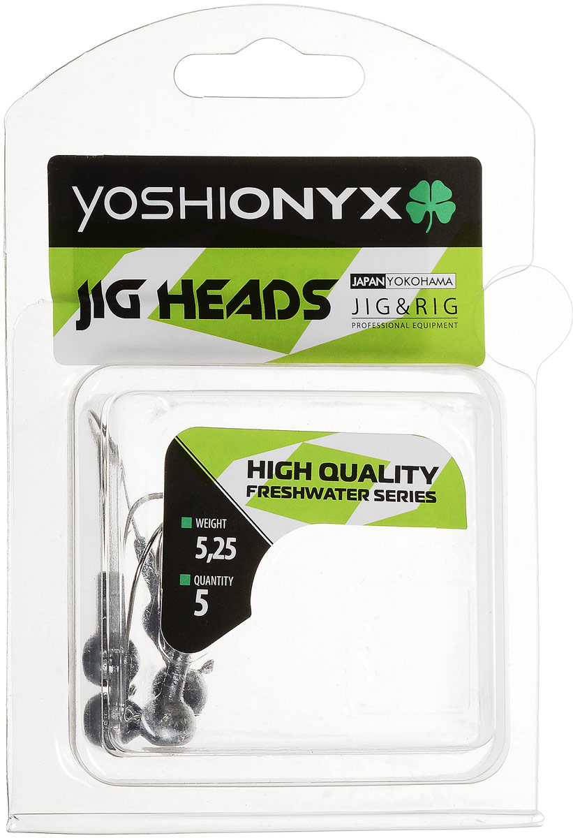 Джиг-головка Yoshi Onyx JIG Bros. Шар 1, крючок Gamakatsu, 5,25 г, 5 штPGPS7797CIS08GBNVДжиг-головки Yoshi Onyx JIG Bros. Шар 1 предназначены для огрузки спиннинговых приманок. Форма шар является одной из самых популярных в джиговых оснастках из-за ее универсальности. Шары с успехом применяются практически на всех водоемах. Джиг-головки оснащены крючком Gamakatsu. Такой крючок прекрасно пробивает жесткую пасть крупного судака, щуки и сома. Несмотря на кажущуюся простоту этих грузил, от правильного подбора во многом зависит клев хищника. Выбирайте джиговую головку в зависимости от предполагаемого места ловли и используемой с ней приманки, возможной глубины, скорости течения, ветра и прочего.