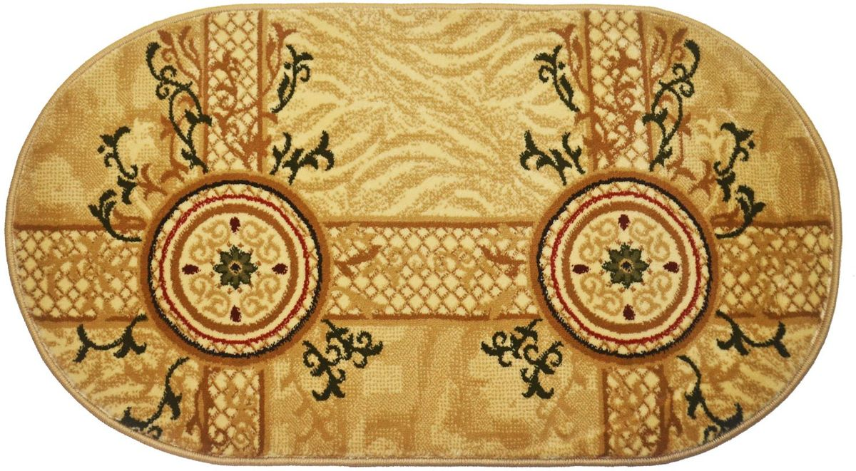 Ковер Kamalak Tekstil, 60 х 110 см. УК-0533 ковер kamalak tekstil овальный 60 x 110 см ук 0247