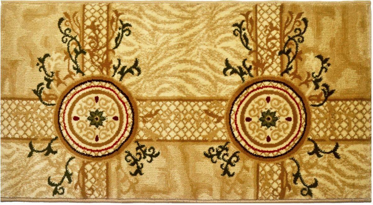 Ковер Kamalak Tekstil, 60 х 110 см. УК-0534УКД-2067Ковер Kamalak Tekstil изготовлен из прочного синтетического материала heat-set, улучшенного варианта полипропилена (эта нить получается в результате его дополнительной обработки). Полипропилен износостоек, нетоксичен, не впитывает влагу, не провоцирует аллергию. Структура волокна в полипропиленовых коврах гладкая, поэтому грязь не будет въедаться и скапливаться на ворсе. Практичный и износоустойчивый ворс не истирается и не накапливает статическое электричество. Ковер обладает хорошими показателями теплостойкости и шумоизоляции. Оригинальный рисунок позволит гармонично оформить интерьер комнаты, гостиной или прихожей. За счет невысокого ворса ковер легко чистить. При надлежащем уходе синтетический ковер прослужит долго, не утратив ни яркости узора, ни блеска ворса, ни упругости. Самый простой способ избавить изделие от грязи - пропылесосить его с обеих сторон (лицевой и изнаночной). Влажная уборка с применением шампуней и моющих средств не противопоказана. Хранить рекомендуется в свернутом рулоном виде.