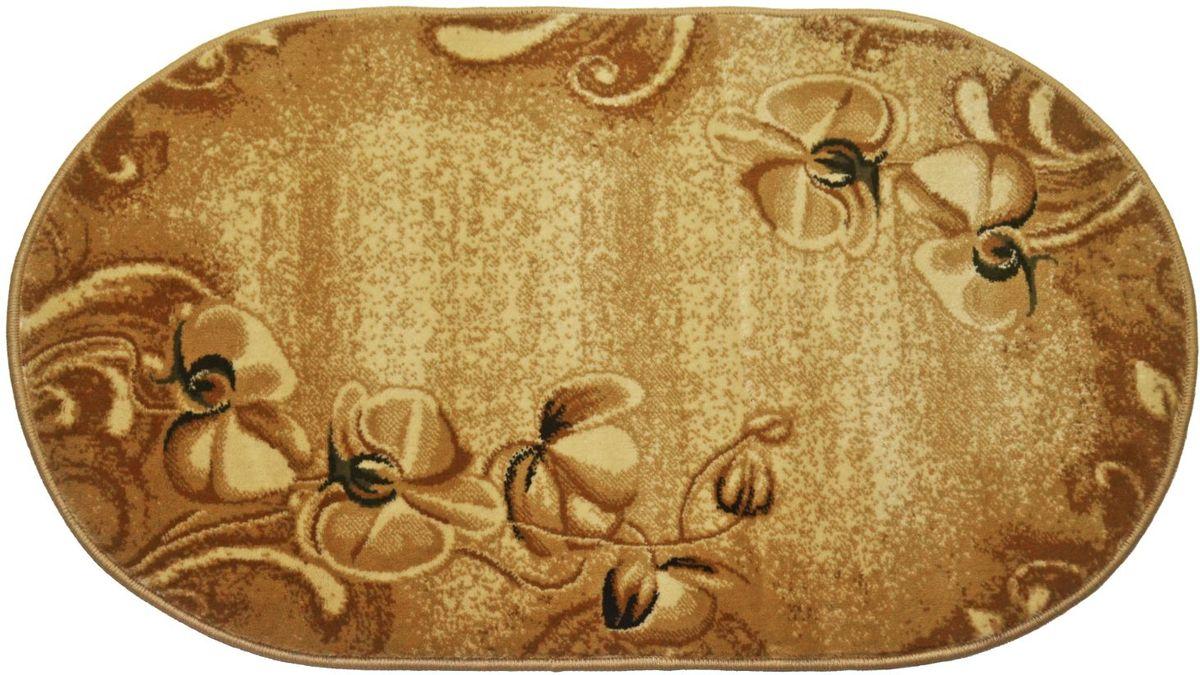 Ковер Kamalak Tekstil, 80 х 150 см. УК-0551УКД-2047Ковер Kamalak Tekstil изготовлен из прочного синтетического материала heat-set, улучшенного варианта полипропилена (эта нить получается в результате его дополнительной обработки). Полипропилен износостоек, нетоксичен, не впитывает влагу, не провоцирует аллергию. Структура волокна в полипропиленовых коврах гладкая, поэтому грязь не будет въедаться и скапливаться на ворсе. Практичный и износоустойчивый ворс не истирается и не накапливает статическое электричество. Ковер обладает хорошими показателями теплостойкости и шумоизоляции. Оригинальный рисунок позволит гармонично оформить интерьер комнаты, гостиной или прихожей. За счет невысокого ворса ковер легко чистить. При надлежащем уходе синтетический ковер прослужит долго, не утратив ни яркости узора, ни блеска ворса, ни упругости. Самый простой способ избавить изделие от грязи - пропылесосить его с обеих сторон (лицевой и изнаночной). Влажная уборка с применением шампуней и моющих средств не противопоказана. Хранить рекомендуется в свернутом рулоном виде.