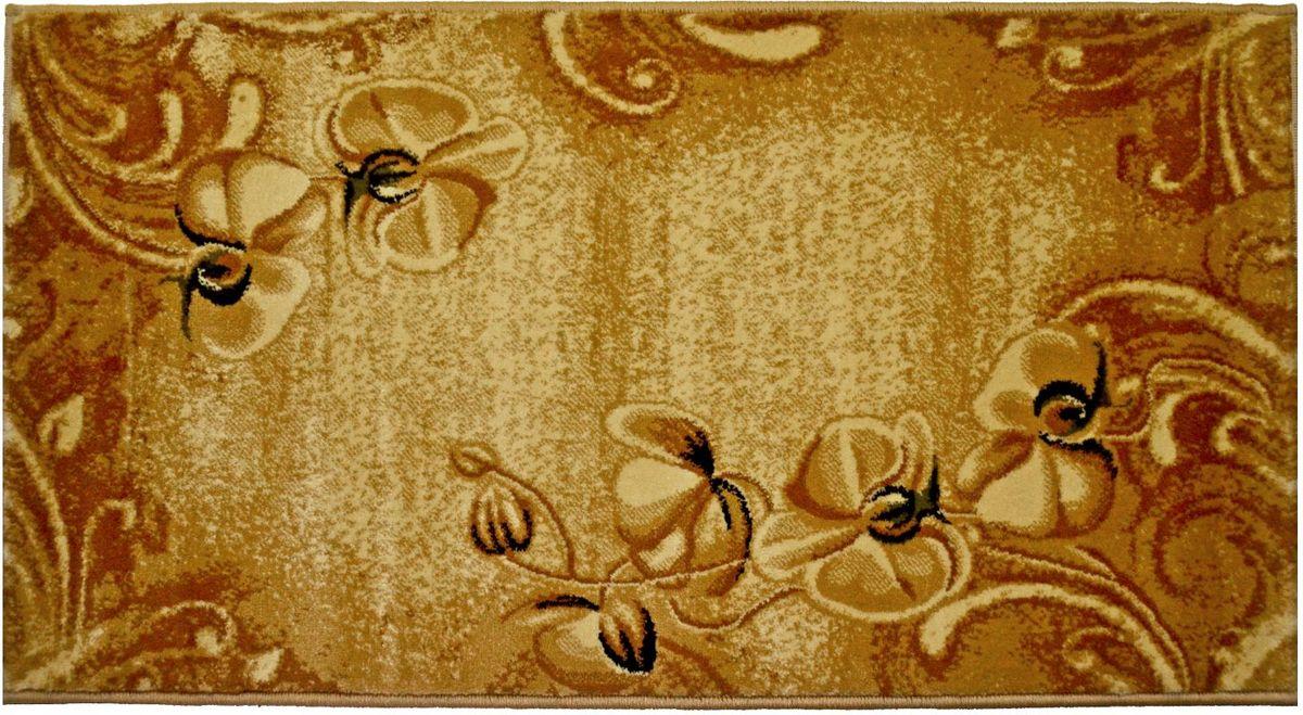 Ковер Kamalak Tekstil, 80 х 150 см. УК-055220096Ковер Kamalak Tekstil изготовлен из прочного синтетического материала heat-set, улучшенного варианта полипропилена (эта нить получается в результате его дополнительной обработки). Полипропилен износостоек, нетоксичен, не впитывает влагу, не провоцирует аллергию. Структура волокна в полипропиленовых коврах гладкая, поэтому грязь не будет въедаться и скапливаться на ворсе. Практичный и износоустойчивый ворс не истирается и не накапливает статическое электричество. Ковер обладает хорошими показателями теплостойкости и шумоизоляции. Оригинальный рисунок позволит гармонично оформить интерьер комнаты, гостиной или прихожей. За счет невысокого ворса ковер легко чистить. При надлежащем уходе синтетический ковер прослужит долго, не утратив ни яркости узора, ни блеска ворса, ни упругости. Самый простой способ избавить изделие от грязи - пропылесосить его с обеих сторон (лицевой и изнаночной). Влажная уборка с применением шампуней и моющих средств не противопоказана. Хранить рекомендуется в свернутом рулоном виде.