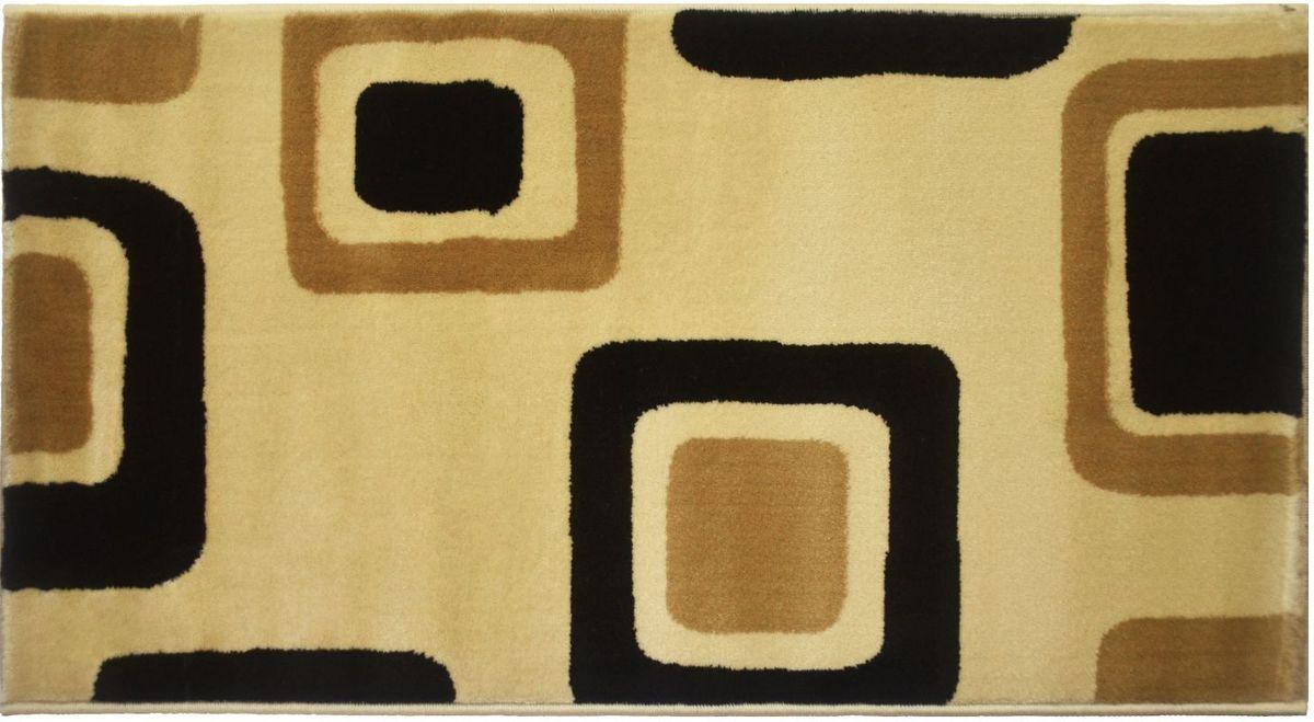 Ковер Kamalak Tekstil, 80 х 150 см. УК-0556УКД-2051Ковер Kamalak Tekstil изготовлен из прочного синтетического материала heat-set, улучшенного варианта полипропилена (эта нить получается в результате его дополнительной обработки). Полипропилен износостоек, нетоксичен, не впитывает влагу, не провоцирует аллергию. Структура волокна в полипропиленовых коврах гладкая, поэтому грязь не будет въедаться и скапливаться на ворсе. Практичный и износоустойчивый ворс не истирается и не накапливает статическое электричество. Ковер обладает хорошими показателями теплостойкости и шумоизоляции. Оригинальный рисунок позволит гармонично оформить интерьер комнаты, гостиной или прихожей. За счет невысокого ворса ковер легко чистить. При надлежащем уходе синтетический ковер прослужит долго, не утратив ни яркости узора, ни блеска ворса, ни упругости. Самый простой способ избавить изделие от грязи - пропылесосить его с обеих сторон (лицевой и изнаночной). Влажная уборка с применением шампуней и моющих средств не противопоказана. Хранить рекомендуется в свернутом рулоном виде.
