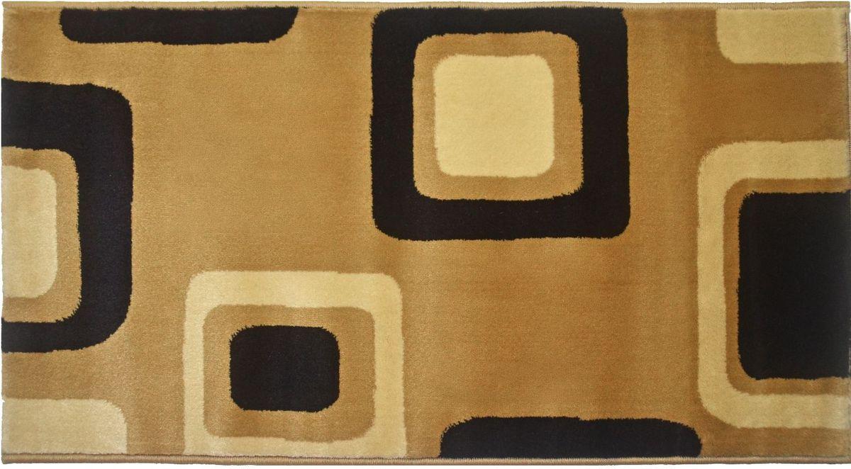 Ковер Kamalak Tekstil, 100 х 150 см. УК-055820-466Ковер Kamalak Tekstil изготовлен из прочного синтетического материала heat-set, улучшенного варианта полипропилена (эта нить получается в результате его дополнительной обработки). Полипропилен износостоек, нетоксичен, не впитывает влагу, не провоцирует аллергию. Структура волокна в полипропиленовых коврах гладкая, поэтому грязь не будет въедаться и скапливаться на ворсе. Практичный и износоустойчивый ворс не истирается и не накапливает статическое электричество. Ковер обладает хорошими показателями теплостойкости и шумоизоляции. Оригинальный рисунок позволит гармонично оформить интерьер комнаты, гостиной или прихожей. За счет невысокого ворса ковер легко чистить. При надлежащем уходе синтетический ковер прослужит долго, не утратив ни яркости узора, ни блеска ворса, ни упругости. Самый простой способ избавить изделие от грязи - пропылесосить его с обеих сторон (лицевой и изнаночной). Влажная уборка с применением шампуней и моющих средств не противопоказана. Хранить рекомендуется в свернутом рулоном виде.