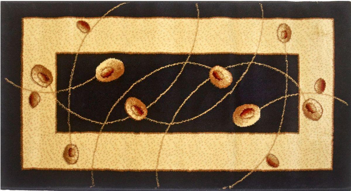 Ковер Kamalak Tekstil, 100 х 150 см. УК-05704463Ковер Kamalak Tekstil изготовлен из прочного синтетического материала heat-set, улучшенного варианта полипропилена (эта нить получается в результате его дополнительной обработки). Полипропилен износостоек, нетоксичен, не впитывает влагу, не провоцирует аллергию. Структура волокна в полипропиленовых коврах гладкая, поэтому грязь не будет въедаться и скапливаться на ворсе. Практичный и износоустойчивый ворс не истирается и не накапливает статическое электричество. Ковер обладает хорошими показателями теплостойкости и шумоизоляции. Оригинальный рисунок позволит гармонично оформить интерьер комнаты, гостиной или прихожей. За счет невысокого ворса ковер легко чистить. При надлежащем уходе синтетический ковер прослужит долго, не утратив ни яркости узора, ни блеска ворса, ни упругости. Самый простой способ избавить изделие от грязи - пропылесосить его с обеих сторон (лицевой и изнаночной). Влажная уборка с применением шампуней и моющих средств не противопоказана. Хранить рекомендуется в свернутом рулоном виде.