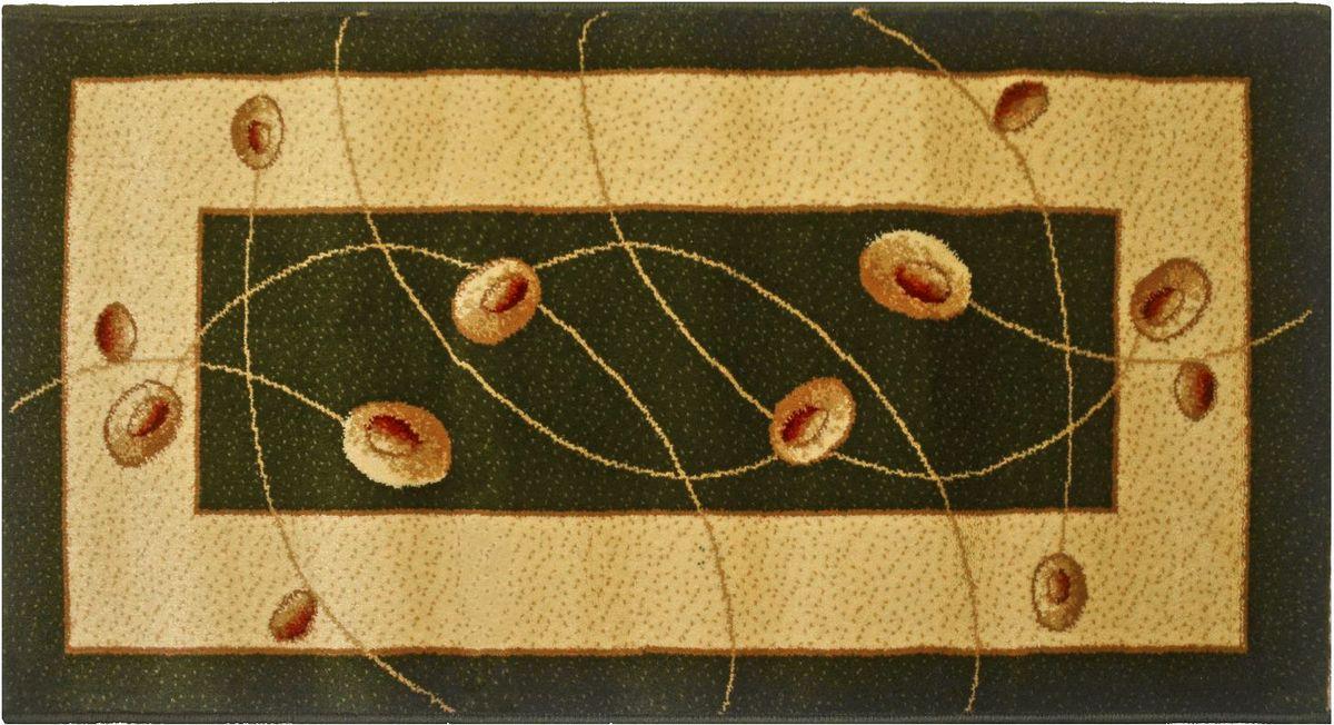 Ковер Kamalak Tekstil, 80 х 150 см. УК-0574УКД-2059Ковер Kamalak Tekstil изготовлен из прочного синтетического материала heat-set, улучшенного варианта полипропилена (эта нить получается в результате его дополнительной обработки). Полипропилен износостоек, нетоксичен, не впитывает влагу, не провоцирует аллергию. Структура волокна в полипропиленовых коврах гладкая, поэтому грязь не будет въедаться и скапливаться на ворсе. Практичный и износоустойчивый ворс не истирается и не накапливает статическое электричество. Ковер обладает хорошими показателями теплостойкости и шумоизоляции. Оригинальный рисунок позволит гармонично оформить интерьер комнаты, гостиной или прихожей. За счет невысокого ворса ковер легко чистить. При надлежащем уходе синтетический ковер прослужит долго, не утратив ни яркости узора, ни блеска ворса, ни упругости. Самый простой способ избавить изделие от грязи - пропылесосить его с обеих сторон (лицевой и изнаночной). Влажная уборка с применением шампуней и моющих средств не противопоказана. Хранить рекомендуется в свернутом рулоном виде.