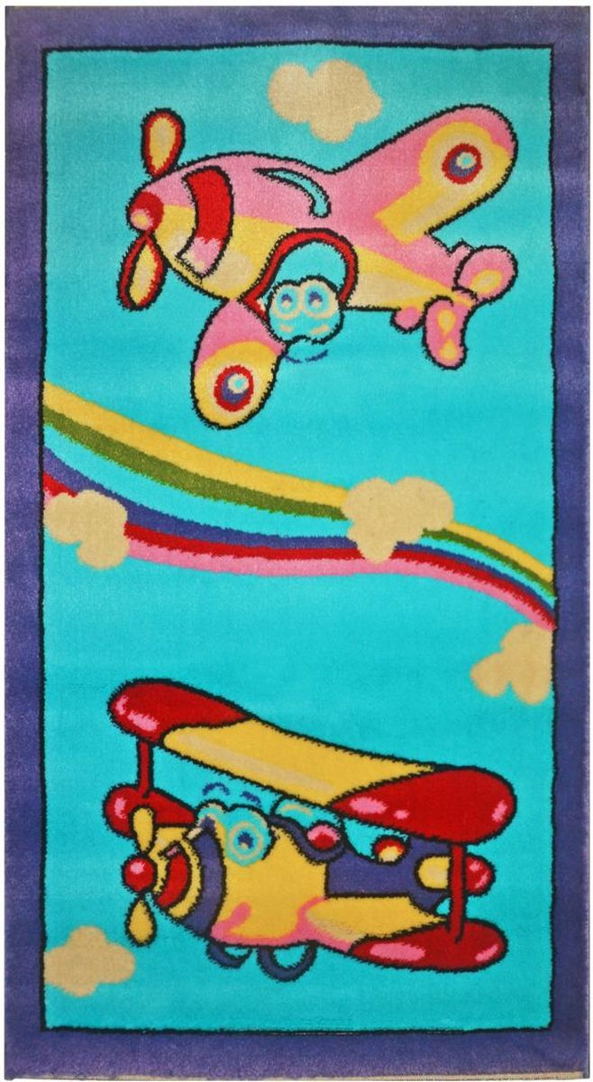 Ковер детский Kamalak Tekstil, 60 х 110 см. УКД-2045FS-91909Детский ковер Kamalak Tekstil изготовлен из высококачественного полипропилена.Полипропилен износостоек, нетоксичен, не впитывает влагу, не провоцирует аллергию. Структура волокна в полипропиленовых коврах гладкая, поэтому грязь не будет въедаться и скапливаться на ворсе. Практичный и износоустойчивый ворс не истирается и не накапливает статическое электричество. Ковер обладает хорошими показателями теплостойкости и шумоизоляции. Оригинальный рисунок позволит гармонично оформить интерьер детской комнаты. За счет невысокого ворса ковер легко чистить. При надлежащем уходе синтетический ковер прослужит долго, не утратив ни яркости узора, ни блеска ворса, ни упругости. Самый простой способ избавить изделие от грязи - пропылесосить его с обеих сторон (лицевой и изнаночной). Влажная уборка с применением шампуней и моющих средств не противопоказана. Хранить рекомендуется в свернутом рулоном виде.