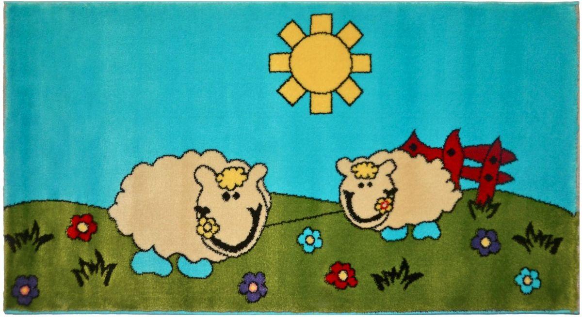 Ковер детский Kamalak Tekstil, 60 х 110 см. УКД-205110-696Детский ковер Kamalak Tekstil изготовлен из высококачественного полипропилена.Полипропилен износостоек, нетоксичен, не впитывает влагу, не провоцирует аллергию. Структура волокна в полипропиленовых коврах гладкая, поэтому грязь не будет въедаться и скапливаться на ворсе. Практичный и износоустойчивый ворс не истирается и не накапливает статическое электричество. Ковер обладает хорошими показателями теплостойкости и шумоизоляции. Оригинальный рисунок позволит гармонично оформить интерьер детской комнаты. За счет невысокого ворса ковер легко чистить. При надлежащем уходе синтетический ковер прослужит долго, не утратив ни яркости узора, ни блеска ворса, ни упругости. Самый простой способ избавить изделие от грязи - пропылесосить его с обеих сторон (лицевой и изнаночной). Влажная уборка с применением шампуней и моющих средств не противопоказана. Хранить рекомендуется в свернутом рулоном виде.
