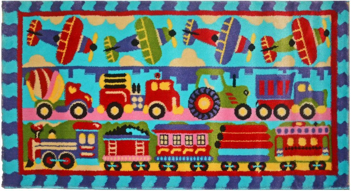 Ковер детский Kamalak Tekstil Транспорт, 80 х 150 смFS-91909Детский ковер Kamalak Tekstil изготовлен из высококачественного полипропилена.Полипропилен износостоек, нетоксичен, не впитывает влагу, не провоцирует аллергию. Структура волокна в полипропиленовых коврах гладкая, поэтому грязь не будет въедаться и скапливаться на ворсе. Практичный и износоустойчивый ворс не истирается и не накапливает статическое электричество. Ковер обладает хорошими показателями теплостойкости и шумоизоляции. Оригинальный рисунок позволит гармонично оформить интерьер детской комнаты. За счет невысокого ворса ковер легко чистить. При надлежащем уходе синтетический ковер прослужит долго, не утратив ни яркости узора, ни блеска ворса, ни упругости. Самый простой способ избавить изделие от грязи - пропылесосить его с обеих сторон (лицевой и изнаночной). Влажная уборка с применением шампуней и моющих средств не противопоказана. Хранить рекомендуется в свернутом рулоном виде.