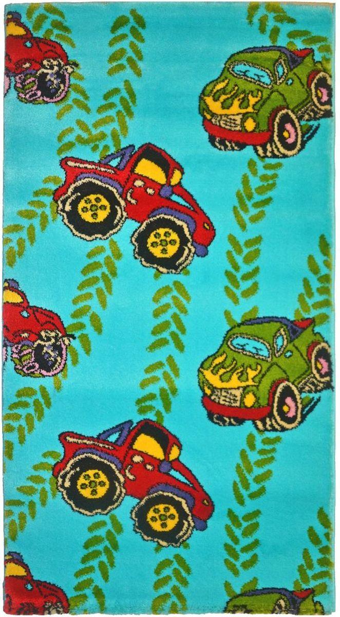 Ковер детский Kamalak Tekstil Внедорожники, 80 х 150 смУКД-2071Детский ковер Kamalak Tekstil изготовлен из высококачественного полипропилена.Полипропилен износостоек, нетоксичен, не впитывает влагу, не провоцирует аллергию. Структура волокна в полипропиленовых коврах гладкая, поэтому грязь не будет въедаться и скапливаться на ворсе. Практичный и износоустойчивый ворс не истирается и не накапливает статическое электричество. Ковер обладает хорошими показателями теплостойкости и шумоизоляции. Оригинальный рисунок позволит гармонично оформить интерьер детской комнаты. За счет невысокого ворса ковер легко чистить. При надлежащем уходе синтетический ковер прослужит долго, не утратив ни яркости узора, ни блеска ворса, ни упругости. Самый простой способ избавить изделие от грязи - пропылесосить его с обеих сторон (лицевой и изнаночной). Влажная уборка с применением шампуней и моющих средств не противопоказана. Хранить рекомендуется в свернутом рулоном виде.
