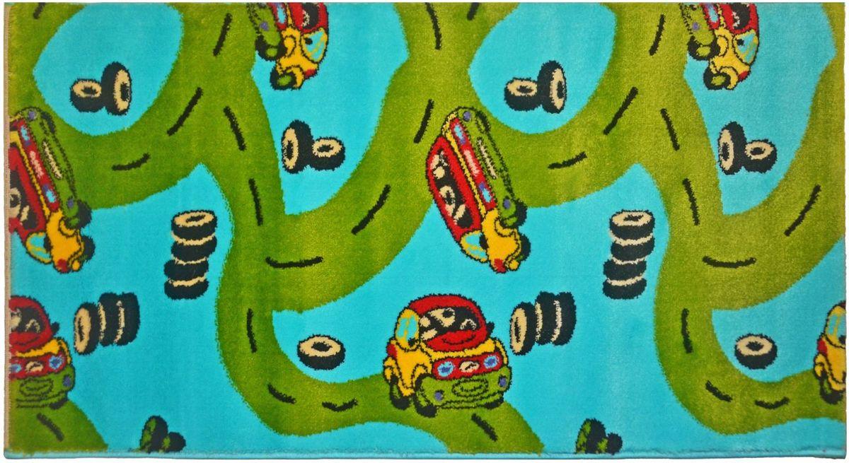 Ковер детский Kamalak Tekstil Картинг, 80 х 150 смFS-91909Детский ковер Kamalak Tekstil изготовлен из высококачественного полипропилена.Полипропилен износостоек, нетоксичен, не впитывает влагу, не провоцирует аллергию. Структура волокна в полипропиленовых коврах гладкая, поэтому грязь не будет въедаться и скапливаться на ворсе. Практичный и износоустойчивый ворс не истирается и не накапливает статическое электричество. Ковер обладает хорошими показателями теплостойкости и шумоизоляции. Оригинальный рисунок позволит гармонично оформить интерьер детской комнаты. За счет невысокого ворса ковер легко чистить. При надлежащем уходе синтетический ковер прослужит долго, не утратив ни яркости узора, ни блеска ворса, ни упругости. Самый простой способ избавить изделие от грязи - пропылесосить его с обеих сторон (лицевой и изнаночной). Влажная уборка с применением шампуней и моющих средств не противопоказана. Хранить рекомендуется в свернутом рулоном виде.