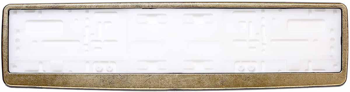 Рамка для номера Концерн Знак Винтаж, цвет: черный, золотоAFC-09Рамка для номера. Предназначена для крепления государственного регистрационного знака. Материал основания - полипропилен, материал лицевой панели ABS-пластик.