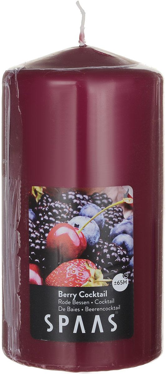 Свеча ароматизированная Spaas Ягодный коктейль, высота 15 смRG-D31SАроматизированная свеча Spaas Ягодный коктейль изготовлена из парафина с добавлением натуральных красок и ароматизаторов, не выделяющих вредные вещества при горении. Фитиль выполнен из натурального хлопка. Оригинальная свеча с тонким, нежным ароматом добавит романтики в ваш дом и создаст неповторимую атмосферу уюта, тепла и нежности. Такая свеча не только поможет дополнить интерьер вашей комнаты, но и станет отличным подарком. Время горения: 65 ч.