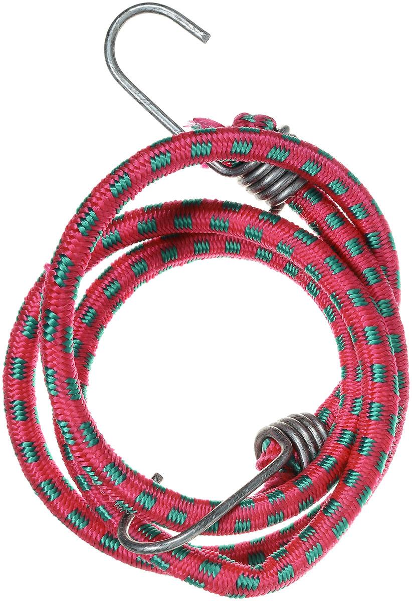 Резинка багажная МастерПроф, с крючками, цвет: красный, зеленый, 1 х 110 см. АС.02002394672Багажная резинка МастерПроф, выполненная из синтетического каучука, оснащена специальными металлическими крюками, которые обеспечивают прочное крепление и не допускают смещение груза во время его перевозки. Резинка применяется для закрепления предметов к багажнику. Она позволит зафиксировать как небольшой груз, так и довольно габаритный.Материал: синтетический каучук. Температура использования: -15°C до +50°C.Безопасное удлинение: 60%.Диаметр резинки: 10 мм.Длина резинки: 110 см.