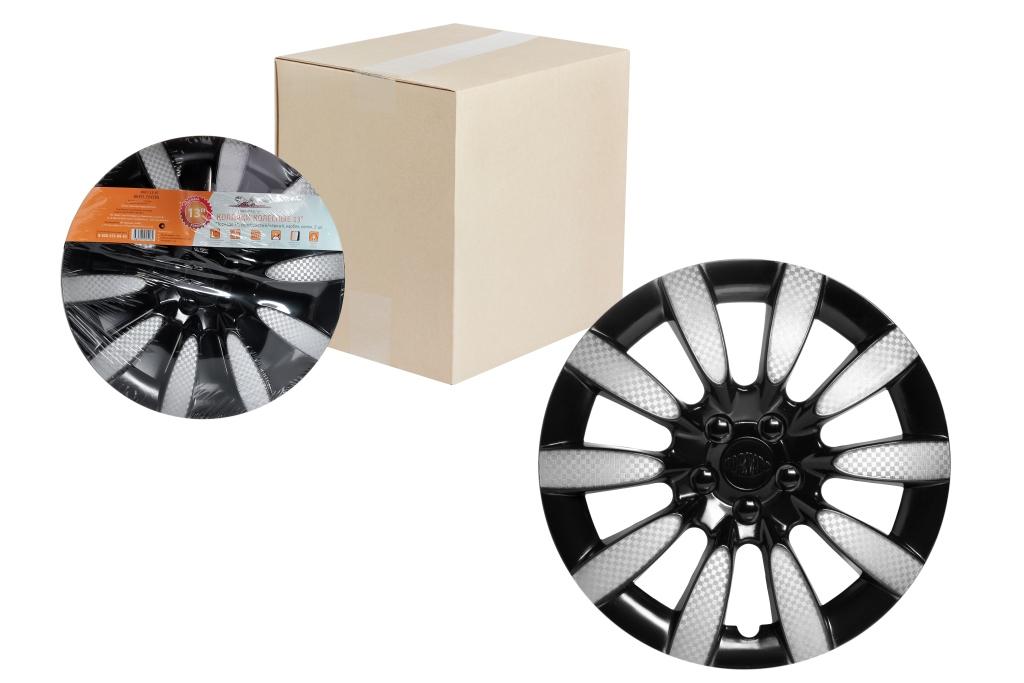 Колпаки колесные Airline Торнадо Т. Карбон, цвет: серебристый, черный, 13, 2 штGL-28Колпаки колесные Airline Торнадо Т. Карбон изготовлены из ударопрочного полистирола, имеют модную текстуру, имитирующую карбон, покрашены в популярный цвет, а также стойкие к повышенным и пониженным температурам. Колпаки колесные имеет оригинальную форму, а также скрывают изъяны штампованных дисков. Зафиксировать колпаки и избежать их поломки помогают крепления с одинаковым распределением давления.Колпаки Airline защитят тормозную систему от грязи, соли и реагентов, скроют изъяны штампованных дисков, тем самым украсив ваш автомобиль. Колпаки колесные обеспечивают вентиляцию тормозных дисков и открытый доступ к ниппелю.