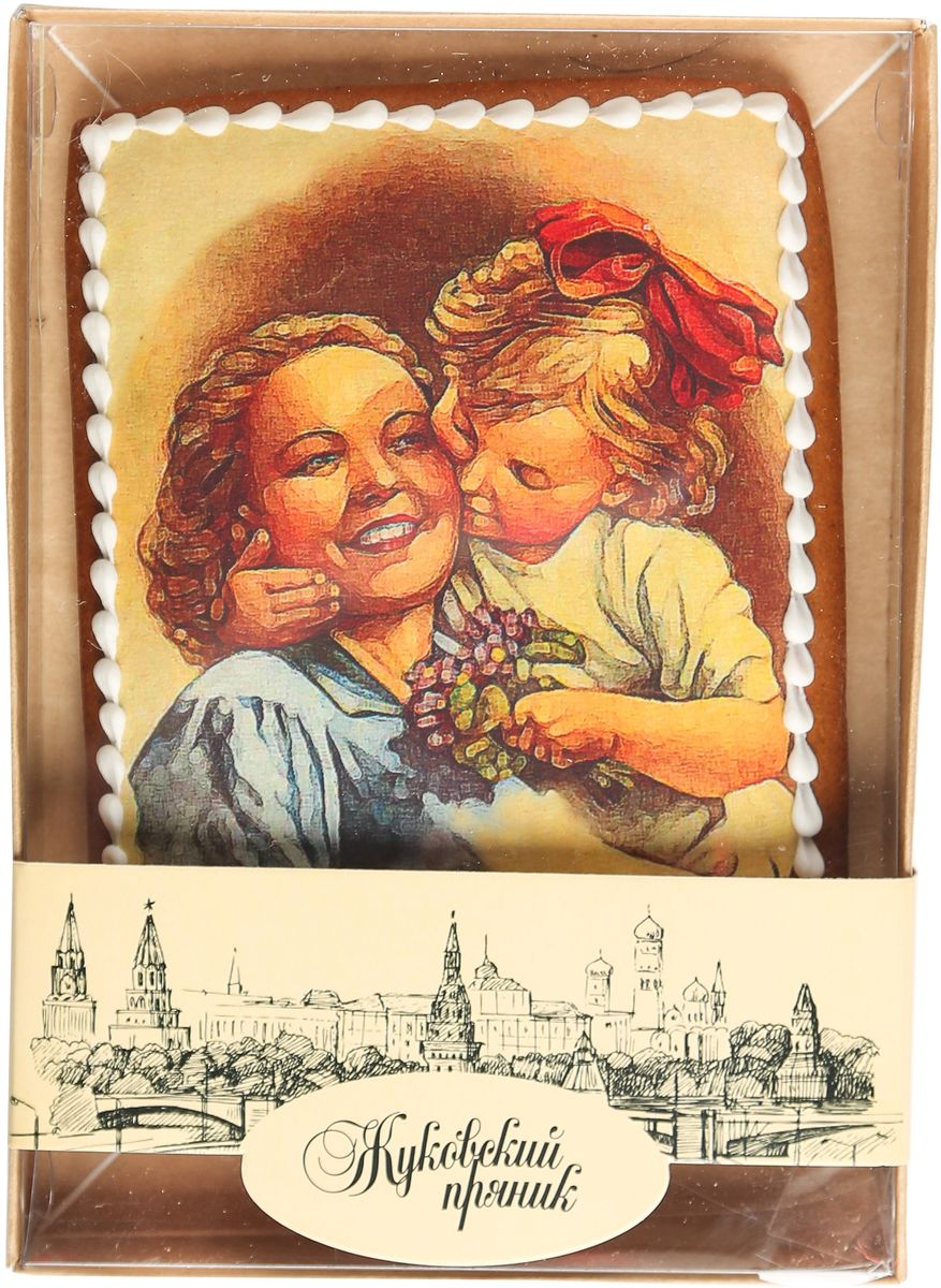 Жуковский пряник Подарочный набор Мамина любовь0120710Медово-имбирный пряник с росписью из айсинга, фотопечатью на сахарной бумаге. Отличный подарок для любимых. Без ГМО.