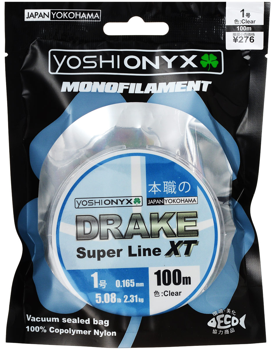 Леска Yoshi Onyx Drake Super Line XT, цвет: прозрачный, 100 м, 0,165 мм, 2,31 кг high power computer hairdryer computer blower blower machine