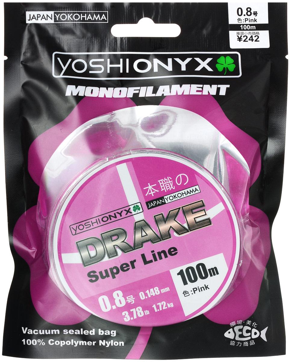 Леска Yoshi Onyx Drake Super Line, цвет: розовый, 100 м, 0,148 мм, 1,72 кг89461Леска Yoshi Onyx Drake Super Line выполнена из розового монофила (нейлон). Скользкий и мягкий, этот материал невероятно прочен и отлично выдерживает разрывную нагрузку на большинстве узлов. Леска идеально подойдет для ловли осторожной рыбы, в сложных условиях, при плохой видимости и на быстром течении. Данная леска обладает повышенной устойчивостью к истиранию, прочностью и превосходной чувствительностью, имеет минимальное растяжение. Строго соответствует заявленным тестовым нагрузкам и диаметру.