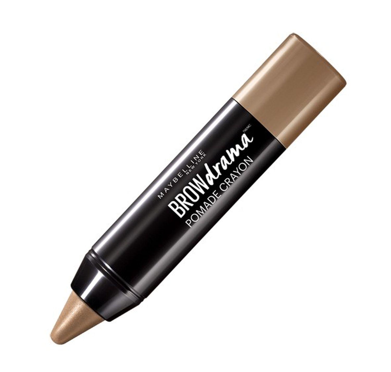 Maybelline New York Восковый карандаш-стик для бровей Brow Drama, Pomade, оттенок 01, Темный блонд, 1,1г280320221-ый кремовый карандаш-стик для бровей в трех оттенках.