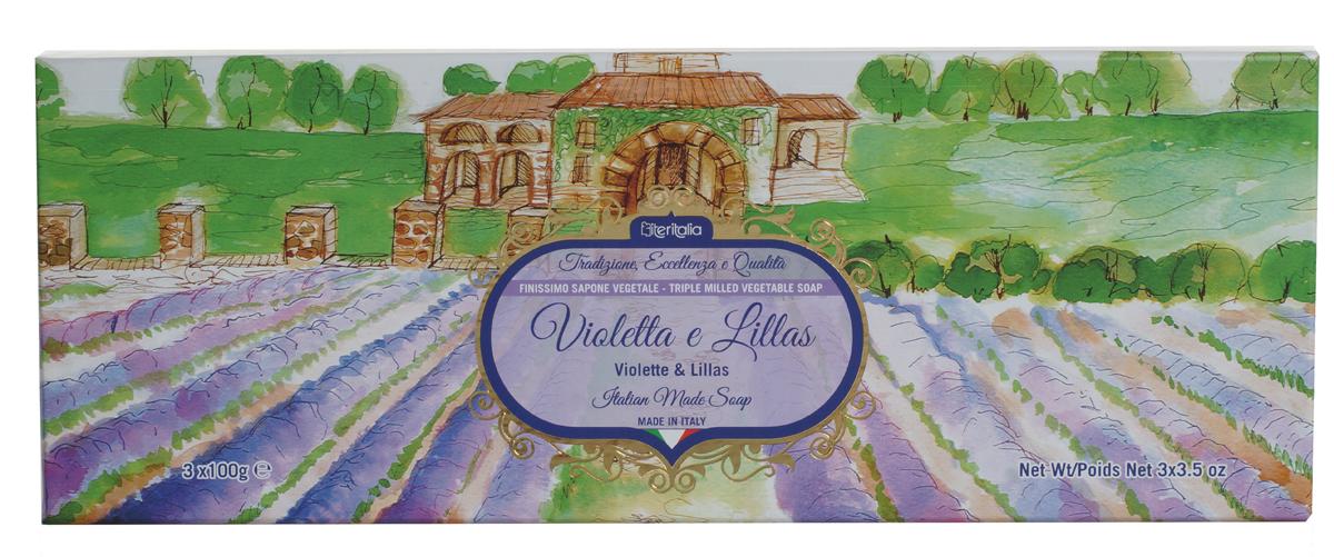 Iteritalia Мыло натуральное косметическое с оливковым маслом в подарочной упаковке ,аромат фиалки и сирени 3*100 гр.26102025Высококачественное натуральное растительное мыло коллекции Цветы Италии, обогащенное оливковым маслом, обладает питательным, увлажняющим и успокаивающим свойствами, имеет тонкий, изысканный аромат фиалки и сирени. Подходит для всех типов кожи.