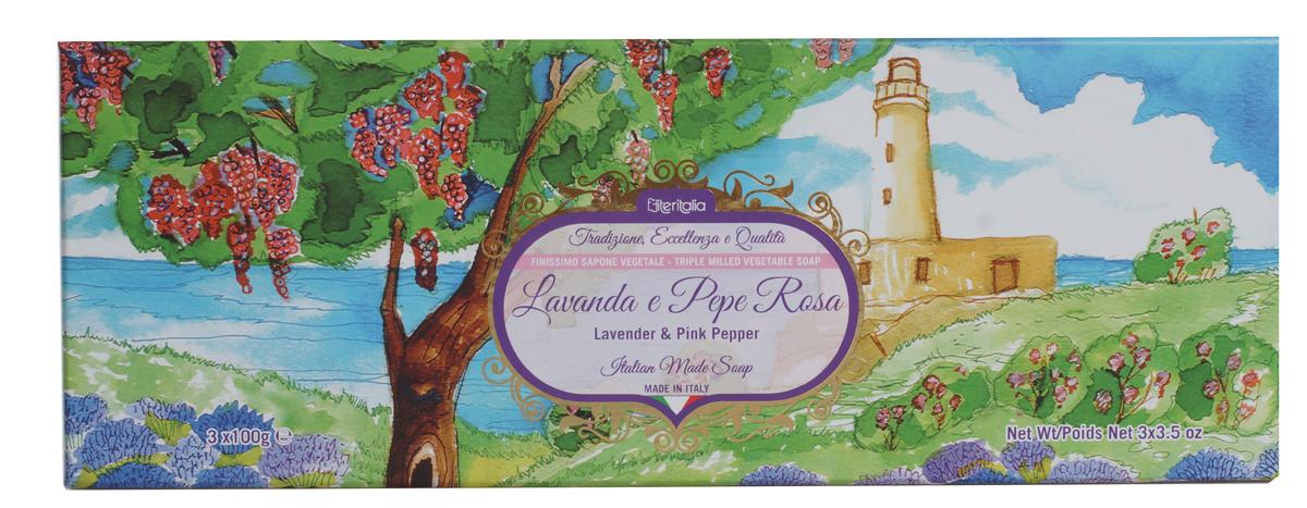 Iteritalia Мыло натуральное косметическое с оливковым маслом в подарочной упаковке ,аромат лаванда и розовый перец.3*100 гр.Satin Hair 7 BR730MNВысококачественное натуральное растительное мыло коллекции Цветы Италии, обогащенное оливковым маслом, обладает питательным, увлажняющим и успокаивающим свойствами, имеет тонкий, изысканный запах лаванды и розового перца. Подходит для всех типов кожи.