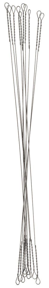 Поводок рыболовный Yoshi Onyx Wire Leader String, 0,3 мм, 12,5 см, 10 штPGPS7797CIS08GBNVПоводки Yoshi Onyx надежны, быстро монтируются и могут достойно противостоять щучьим атакам, не давая хищнику срезать приманку. Такие поводки отлично сработают и при проведении объемных приманок через заросли и кувшинки, при анимации крупных джерков или мягкой резины. С одинаковой вероятностью на приманку, оснащенную тонким струнным поводком, может пойматься и щука, и голавль, и жерех с язем. Отсутствие слабых звеньев исключает возможность схода хищника. Большинство рыболовов применяет поводок-струну и вовсе без дополнительной оснастки. Крепления при таком способе производятся методом скрутки. Для монтажа приманки просто нужно раскрутить косичку. Следует с вниманием отнестись при подобном креплении поводка к плетеному шнуру - если диаметр струны будет меньше диаметра шнура, то велика вероятность, что поводок будет резать плетенку.