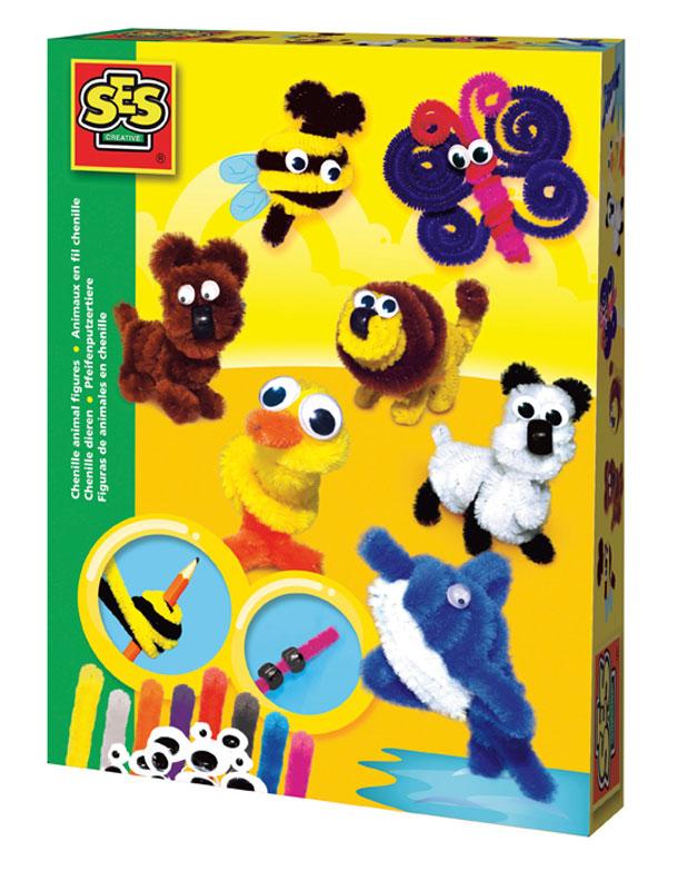 SES Creative Набор изготовления игрушек Сделай фигурки животных из шенила screen ses косметики mediderma
