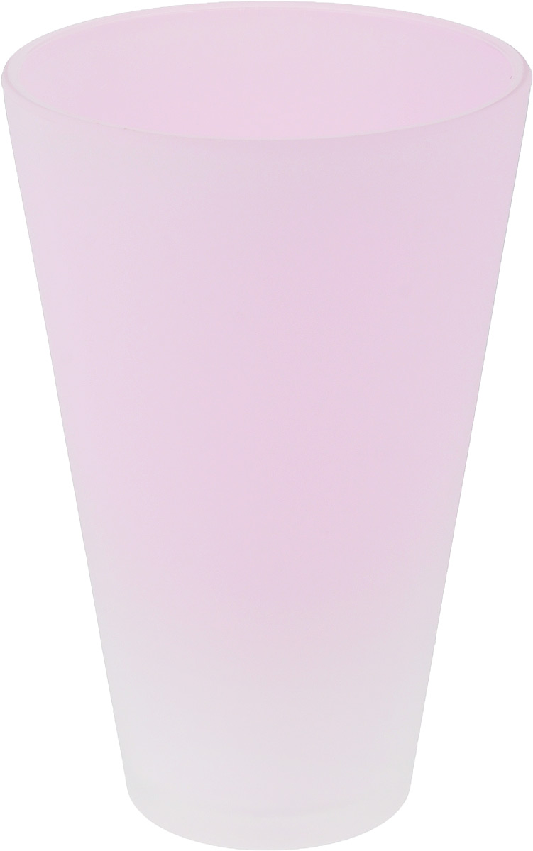Кашпо NiNaGlass, цвет: розовый, высота 21 см531-401Кашпо NiNaGlass имеет уникальную форму, сочетающуюся как с классическим, так и с современным дизайном интерьера. Оно изготовлено из высококачественного стекла и предназначено для выращивания растений, цветов и трав в домашних условиях. Кашпо NiNaGlass порадует вас функциональностью, а благодаря лаконичному дизайну впишется в любой интерьер помещения. Диаметр кашпо (по верхнему краю): 14 см.Высота кашпо: 21 см.