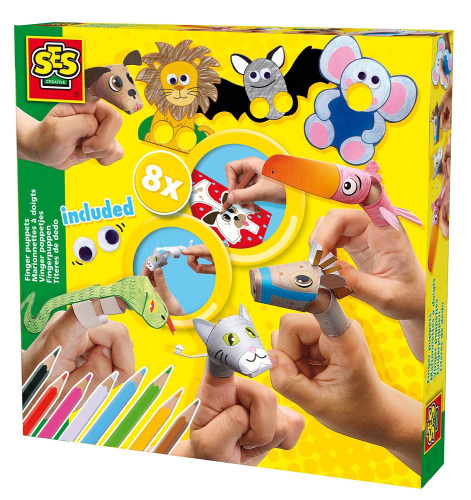 SES Creative Набор для изготовления игрушек Зверушки на пальчики screen ses косметики mediderma