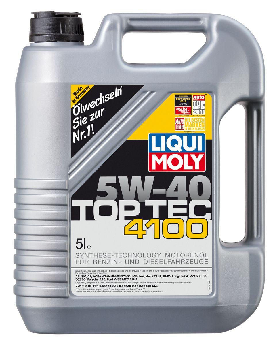 Масло моторное Liqui Moly Top Tec 4100, НС-синтетическое, 5W-40, 5 лкн12-60авцМасло моторное Liqui Moly Top Tec 4100 рекомендуется для бензиновых и дизельных двигателей Mercedes-Benz, BMW, Ford (насос-форсуночные дизели), Honda, Fiat, для всех Porsche с оригинальными двигателями. HC-синтетическое малозольное (Mid SAPS) моторное масло для бензиновых и дизельных двигателей легковых автомобилей, оснащенных двойной системой нейтрализации отработавших газов (в том числе DPF). Соответствует экологическим нормам EURO 4 и выше. Отлично подходит при использовании природного и сжиженного газа (CNG/LPG). В моторных маслах Top Tec используются базовые компоненты, произведенные по новейшим технологиям синтеза и отличающиеся высочайшими защитными свойствами. Масла содержат специальный пакет присадок с пониженным содержанием соединений серы, фосфора и хлора, что обеспечивает совместимость со специфическими системами нейтрализации и обеспечивает минимальные выбросы вредных веществ. Особенности: - Сокращает вредные выбросы- Совместимо с новейшими системами нейтрализации выхлопных газов- Быстрое поступление масла к трущимся деталям при низких температурах- Высокая защита двигателя от износа- Обеспечивает чистоту двигателяИспользование моторного масла Top Tec 4100 позволяет обеспечить высокую надежность эксплуатации двигателя и увеличение срока службы современных дорогостоящих каталитических нейтрализаторов и сажевых фильтров. Благодаря наличию оригинальных допусков производителей автомобилей, использование данного масла позволяет сохранить все гарантийные условия при прохождении ТО. Допуск: -API: CF/SM-ACEA: C3-BMW: Longlife-04-Ford: WSS-M2C917-A-MB: 229.31-Porsche: A40-VW: 502 00/505 00/505 01Соответствие: -ACEA: A3/B4-Fiat: 9.55535-H2/9.55535-M2/9.55535-S2-Renault: RN 0700/RN 0710