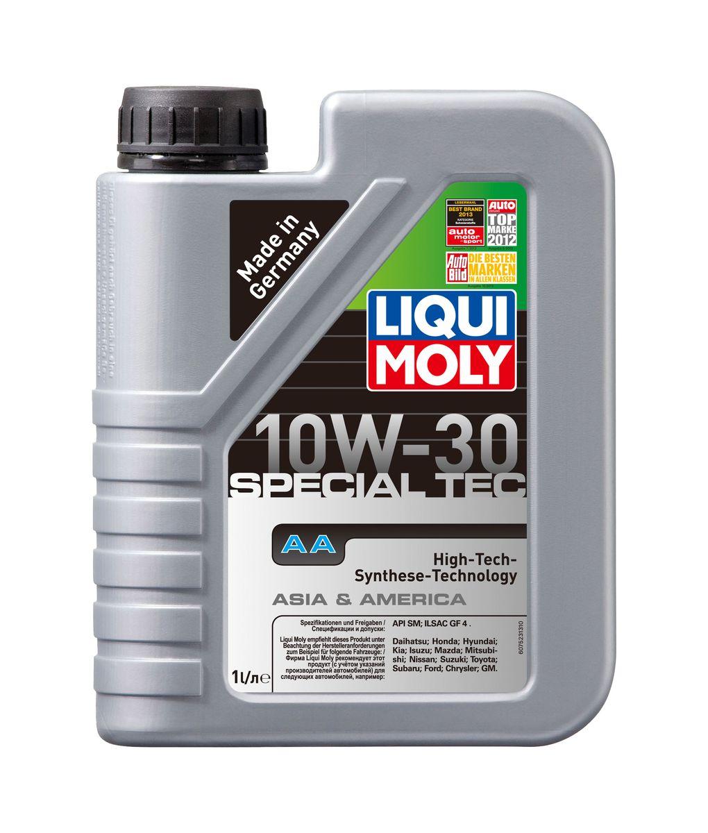 Масло моторное Liqui Moly Special Tec AA, НС-синтетическое, 10W-30, 1 л10503Масло моторное Liqui Moly Special Tec AA рекомендуется для автомобилей Honda, Mazda, Mitsubishi, Nissan, Daihatsu, Hyundai, Kia, Isuzu, Suzuki, Toyota, Subaru, Ford, Chrysler, GM. Современное HC-синтетическое энергосберегающее моторное масло специально предназначено для всесезонного использования в большинстве двигателей современных американских и азиатских бензиновых автомобилей. Также подходит для двигателей предыдущих поколений автомобилей. Базовые масла, полученные по технологии синтеза, и новейшие присадки составляют рецептуру моторного масла с отменной защитой от износа, снижающего расход топлива и масла, обеспечивающего чистоту двигателя. Особенности: - Высочайшие показатели топливной экономии- Сокращает эмиссию выхлопных газов- Отличная чистота двигателя- Совместимо с новейшими системами нейтрализации отработавших газов бензиновых двигателей- Высокая защита от износа и надежность смазывания- Очень низкие потери масла на испарениеМоторное масло Special Tec АА 10W-30 соответствует специальным требованиям азиатских и американских производителей, поэтому его использование позволяет сохранить все гарантийные условия при прохождении ТО соответствующих автомобилей. Допуск: -API: SM-ILSAC: GF-4