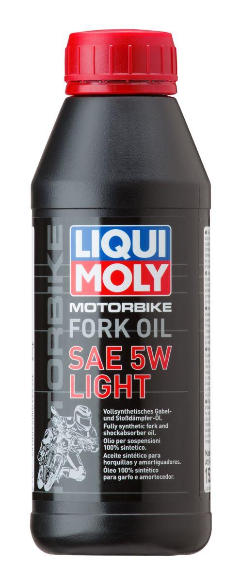 Масло для вилок и амортизаторов Liqui Moly Motorbike Fork Oil Light, синтетическое, 5W, 500 млL-0213Масло для вилок и амортизаторов Liqui Moly Motorbike Fork Oil Light - 100% ПАО-синтетическое масло для использования в качестве демпфирующей жидкости в гидравлических амортизаторах мотоциклов и другой мототехники. Обладает малой вязкостью, оптимально для использования в длинноходных подвесках, согласно рекомендациям производителей. Препятствует вспениванию, облегчает ход вилки, снижает износ. Обеспечивает плавный ход и отличную амортизацию. Повышает безопасность езды.