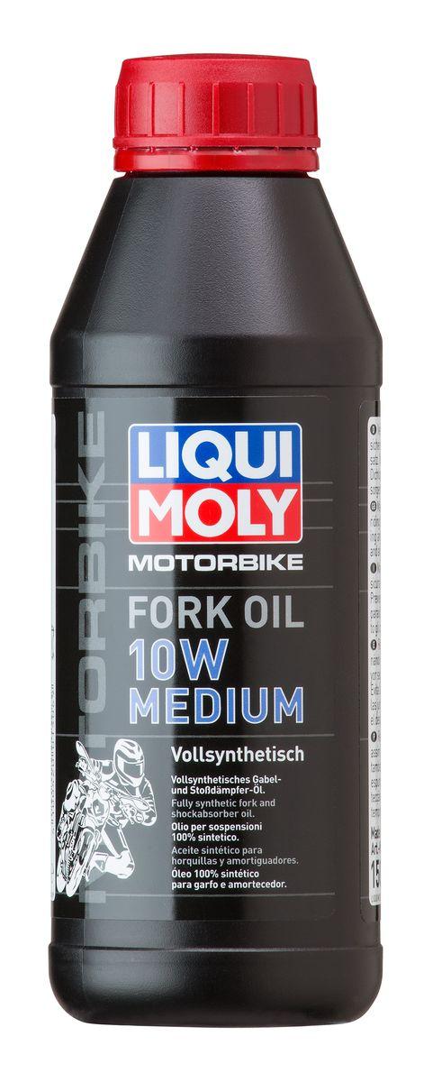 Масло для вилок и амортизаторов Liqui Moly Motorbike Fork Oil Medium, синтетическое, 10W, 500 мл10503Масло для вилок и амортизаторов Liqui Moly Motorbike Fork Oil Medium - 100% ПАО-синтетическое масло для использования в качестве демпфирующей жидкости в гидравлических амортизаторах большинства мотоциклов и другой мототехники. Оптимально для использования в подвесках шоссейных мотоциклов и спортбайков, согласно рекомендациям производителей. Препятствует вспениванию, облегчает ход вилки, снижает износ. Обеспечивает плавный ход и отличную амортизацию. Повышает безопасность езды.
