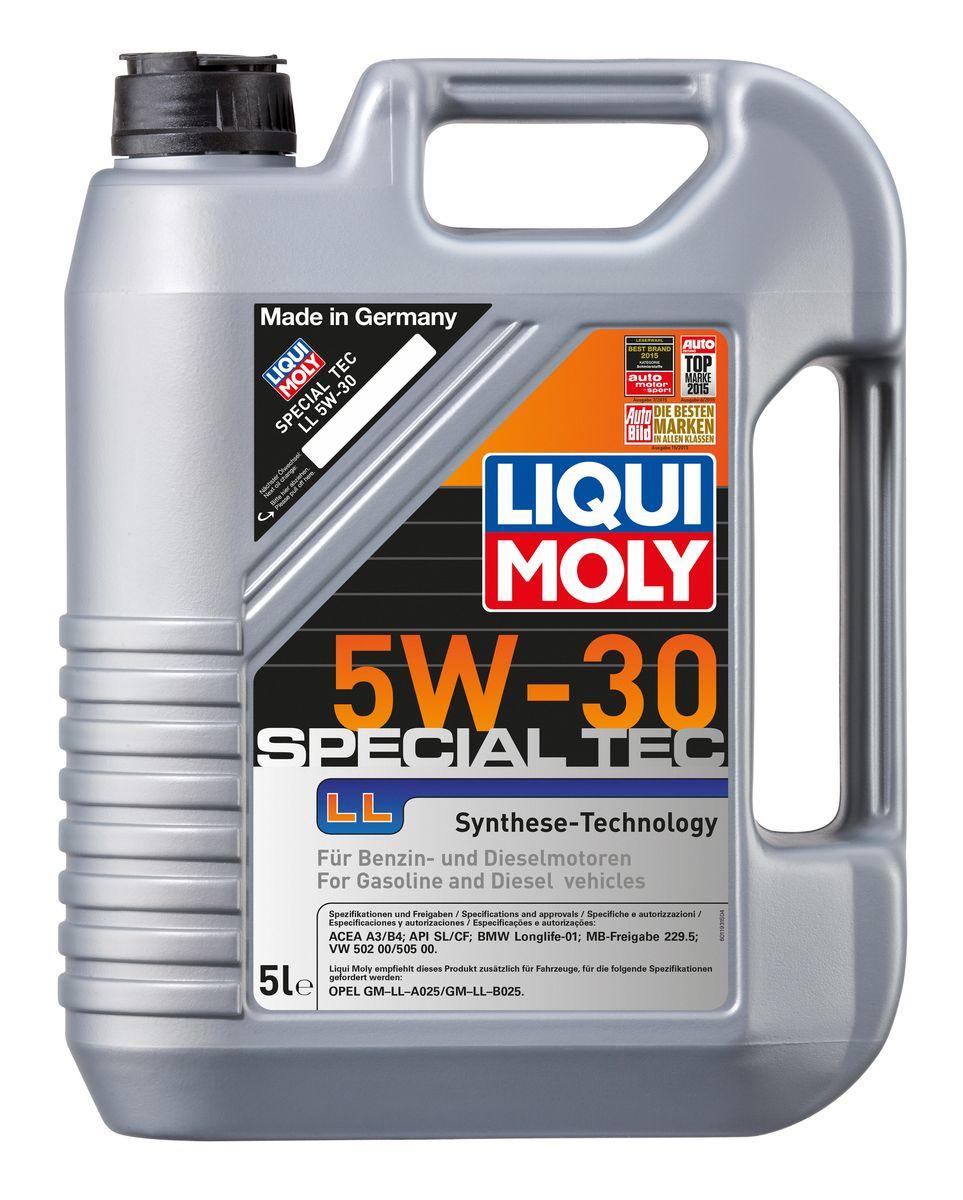 Масло моторное Liqui Moly Special Tec LL, НС-синтетическое, 5W-30, 5 л537500Масло моторное Liqui Moly Special Tec LL рекомендуется для широкого спектра автомобилей с высочайшими требованиями к свойствам моторного масла, таких как Mercedes-Benz, BMW, VW, Opel. HC-синтетическое всесезонное маловязкое моторное масло произведено по новейшим технологическим требованиям. Удовлетворяет условиям LongLife-сервиса. Масло протестировано на турбированных и оснащенных катализаторами моторах. Может использоваться и в двигателях Opel предыдущих поколений, в которых разрешено применение моторных масел данного класса вязкости. Благодаря комбинации НС-синтетических базовых масел и самых современных присадок моторные масла Special Tec LL обеспечивают высочайший уровень защиты от износа, предотвращают образование и накопление отложений в масляной системе и гарантируют стабильное быстрое поступление масла ко всем деталям двигателя. Масло имеет высокий показатель щелочного числа (TBN > 10,5 мг(KOH)/г), что обеспечивает высочайшие моющие свойства. Особенности: - Высочайшие показатели чистоты двигателя- Быстрое поступление масла к деталям двигателя при низких температурах- Очень высокая защита от износа и надежность смазывания- Очень низкие потери масла на испарение- Экономия топлива и снижение вредных выбросов- Проверено на турбированных двигателях и катализатореДопуск: -API: CF/SL-ACEA: A3/B4-BMW: Longlife-01-MB: 229.5-VW: 502 00/505 00Соответствие: -Opel: GM-LL-A025/GM-LL-B025