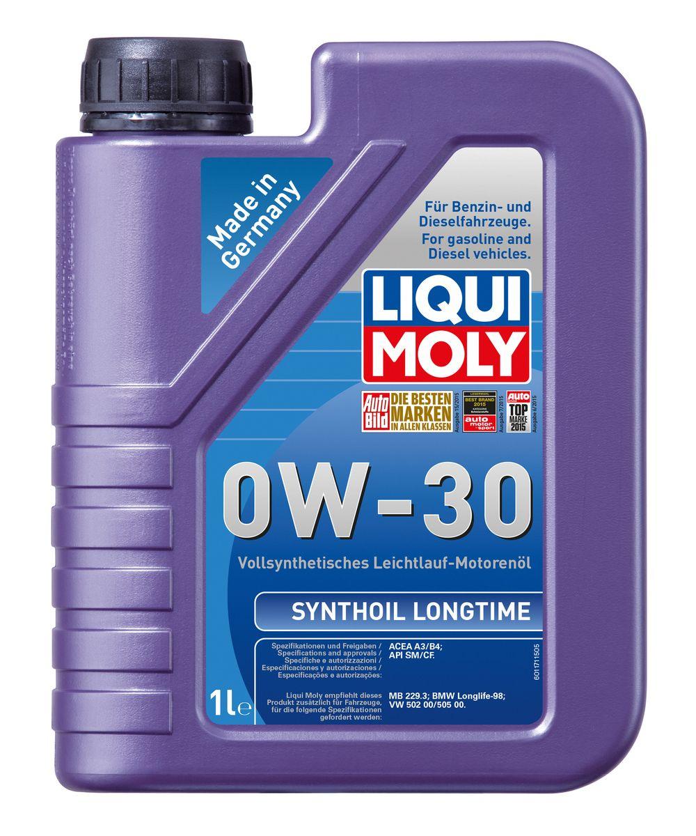 Масло моторное Liqui Moly Synthoil Longtime, синтетическое, 0W-30, 1 л80621Масло моторное Liqui Moly Synthoil Longtime - 100% синтетическое универсальное моторное масло на базе полиальфаолефинов (ПАО) для большинства автомобилей, для которых требования к маслам опираются на международные классификации API и ACEA. Класс вязкости 0W-30 моторного масла на ПАО-базе оптимален для эксплуатации в холодных условиях, обеспечивая уверенный пуск двигателя даже в сильный мороз и высокий уровень энергосбережения (и экономии топлива). Особенности: - Отличные пусковые свойства в мороз- Быстрое поступление масла ко всем деталям двигателя при низких температурах- Высокие показатели по экономии топлива- Высокая смазывающая способность- Замечательная термоокислительная стабильность и устойчивость к старению- Оптимальная чистота двигателя- Протестировано и совместимо с катализаторами и турбонаддувом- Высокая стабильность при высоких температурах- Очень низкий расход масла Допуск: -API: CF/SM-ACEA: A3/B4Соответствие: -BMW: Longlife-98-MB: 229.3-VW: 502 00/505 00