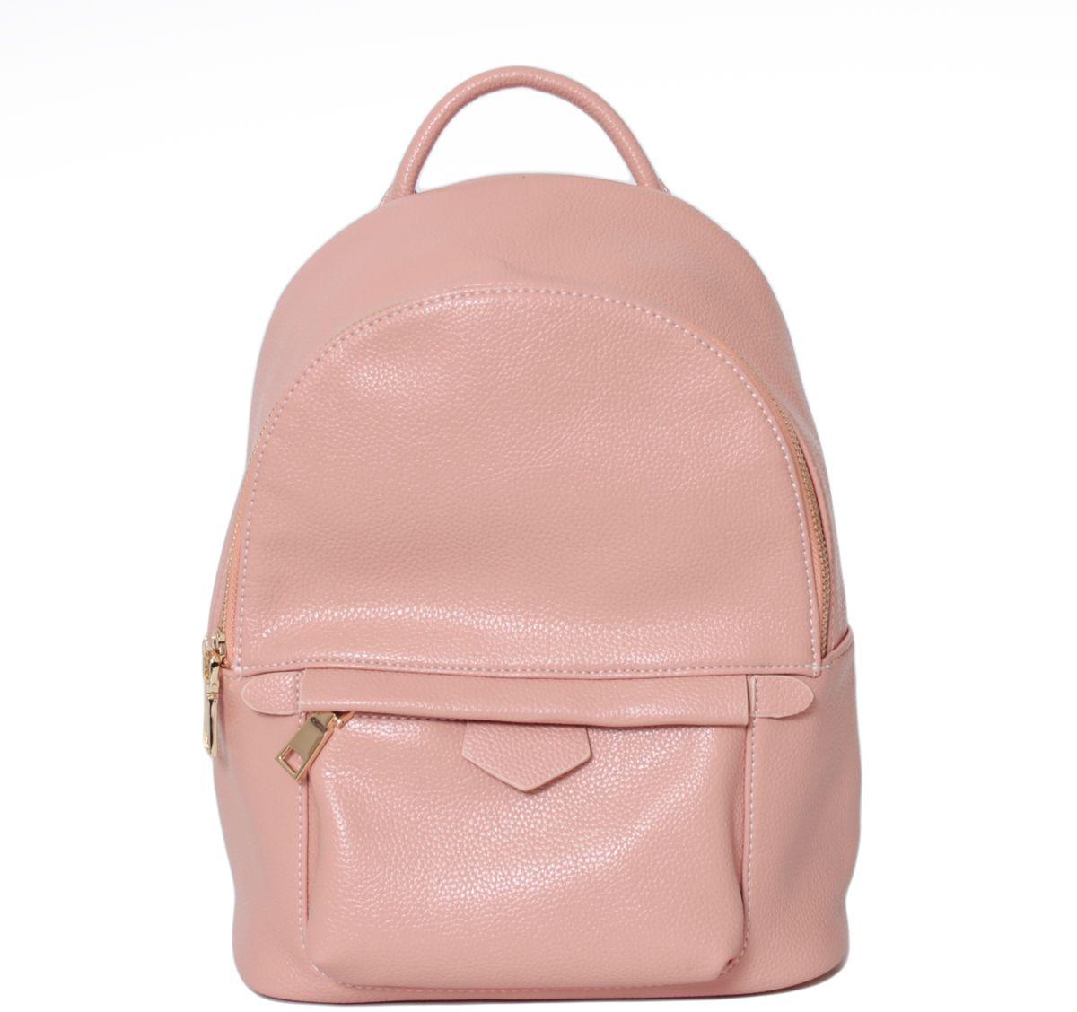 Рюкзак женский Flioraj, цвет: персиковый. 2138S76245Рюкзак Flioraj выполнен из высококачественной искусственной кожи. Изделие оснащено ручкой для подвешивания и удобными лямками. На лицевой стороне расположен карман на молнии. Рюкзак закрывается на молнию. Внутри расположено главное вместительное отделение, которое содержит один небольшой карман на молнии и один открытый накладной карман для мелочей.