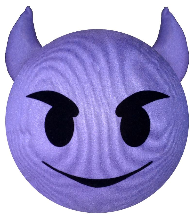 Подушка-подголовник Rexxon чертёнок3-13-7-1-1_фиолетовыйВключает в себя функции подголовника, подушки, игрушки.