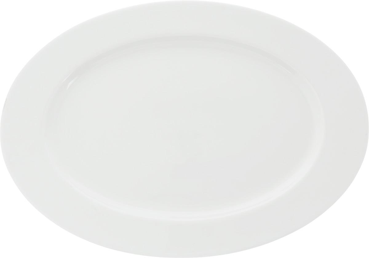 Блюдо Ariane Прайм, овальное, 46 х 32 см115510Сервировочное блюдо Ariane Прайм, изготовленное из высококачественного фарфора, прекрасно подойдет для подачи нарезок, закусок и других блюд. Белоснежное изделие украсит сервировку вашего стола и подчеркнет прекрасный вкус хозяйки.Можно мыть в посудомоечной машине и использовать в СВЧ.Размер блюда (по верхнему краю): 46 х 32 см.Высота блюда: 3 см.