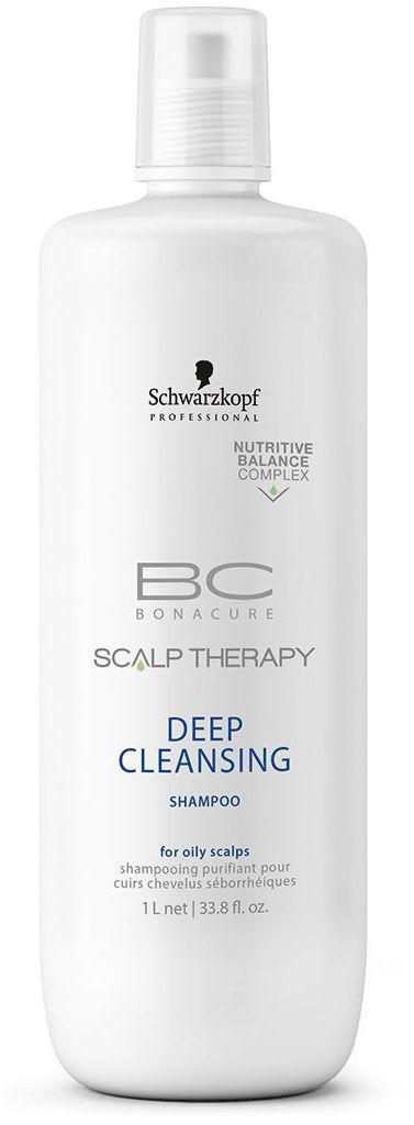 Bonacure Шампунь для глубокого очищения Scalp Therapy Deep Cleansin 1000 мл1966888Очищающий шампунь для всех типов волос, выглядящих маслянистыми и для жирной кожи головы. Поверхносто - активные вещества, полученные из кокоса мягко, но Эффективно очищает кожу головы. Благодаря ментолу шампунь оставляет ощущение чистоты и свежести. Пантенол поддерживает необходимый баланс влаги.