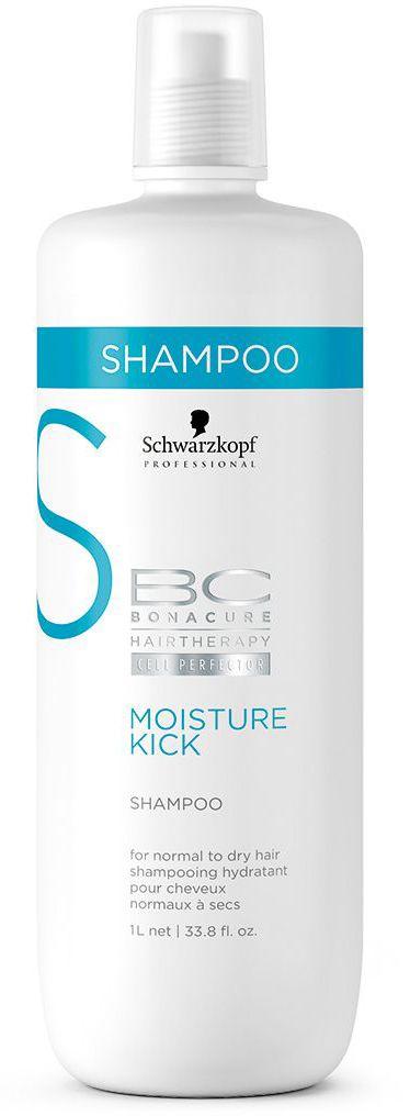 Bonacure Интенсивное Увлажнение Шампунь Moisture Kick 1000 млMP59.4DУвлажняющий шампунь для нормальных или сухих, ломких или кудрявых волос. Интенсивно увлажнениет волосы, не содержит силиконов, мягко очищает волосы и кожу головы, обеспечивая дополнительное увлажнение и предотвращая обезвоживание. Для достижения максимального результата рекомендуется использовать в комплексе с продуктами ухода линии BC Moisture Kick.