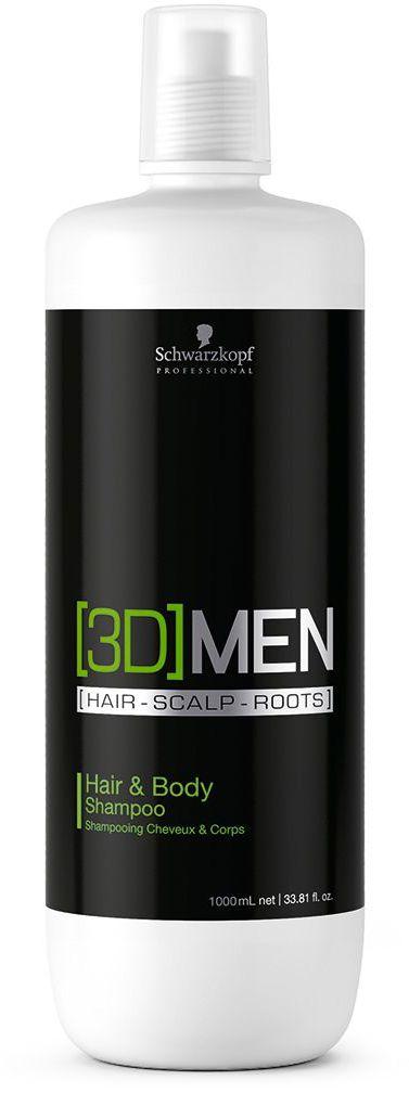 [3D]Men Hair & Body Шампунь для волос и тела 1000 мл1853306Шампунь для волос и тела. Для мужчин. Богатая pH - сбалансированная формула питает и одновременно мягко очищает волосы и кожу тела. Пантенол воздействует на волосы, обеспечивая эластичность и здоровый вид. Ментол воздействует на кожу головы, придавая эффект свежести. Кофеин стимулирует волосяные луковицы. Для всех типов волос.