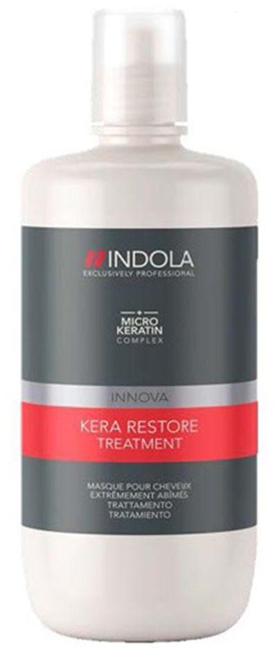 Indola Маска Кератиновое Восстановление Kera Restore 750 млSatin Hair 7 BR730MNИнтенсивно восстанавлиевает внутреннюю структуру волос. Формула с микронизированным кератином глубоко проникает в структуру волоса, запечатывает кутикулу, усиливает фиброзную структуру, упругость и силу. Для сильно поврежденных волос. Рекомендуется использовать в комплексе с шампунем INDOLA Kera Restore