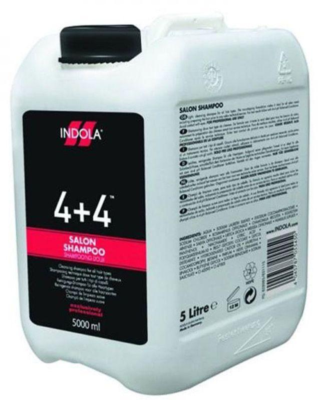 Indola Шампунь для всех типов волос 4+4 5000 млFS-00897Благодаря формуле бережного ухода шампунь идеален для подготовки волос к любым процедурам. Мягко очищает кожу головы и волосы