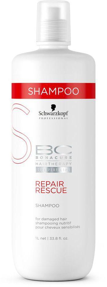 Bonacure Repair Rescue Шампунь Спасительное Восстановление 1000 млMP59.4DИнтенсивный шампунь - уход для сильно поврежденных, тусклых, пористых и ломких волос. Благодаря своей формуле шампунь мягко очищает волосы, улучшает эластичность и разглаживает пористую поверхность делая волосы более послушными. Для достижения максимального результата рекомендуется использовать с продуктами ухода линии BC Repair Rescue