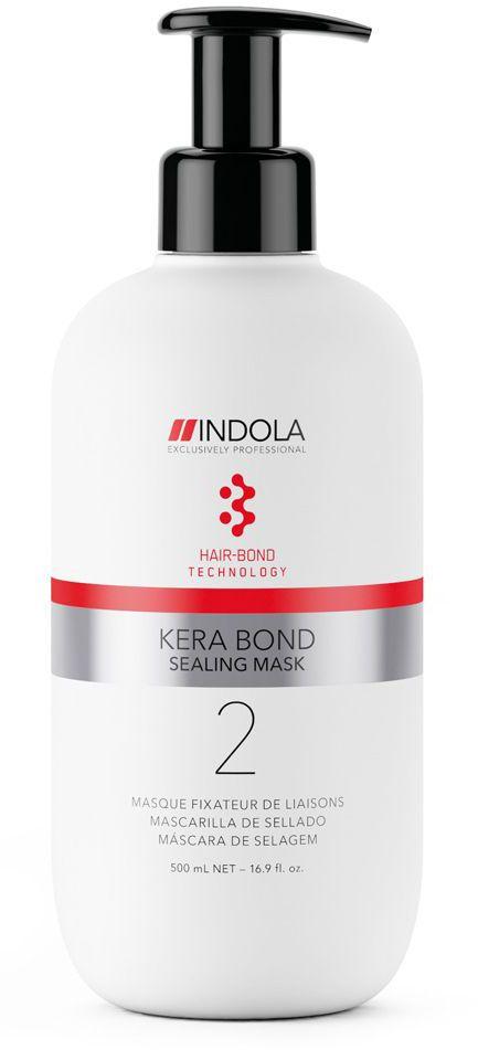 Indola Интенсивная ухаживающая крем-маска Kera Bond 500 мл2076126Двух ступенчатая технология Kera Bond - это инновационная технология Hair Bond Technology, современный ассортимент продуктов против ломкости волос, предотвращающий повреждение волос во время химических процедур и значительно улучшающий качество волос, даже ранее окрашенных. Sealing Mask стабилизирует связи в волосе усиленные после первого шага, запечатывает поверхность волоса и обеспечивает оптимальное качество волос
