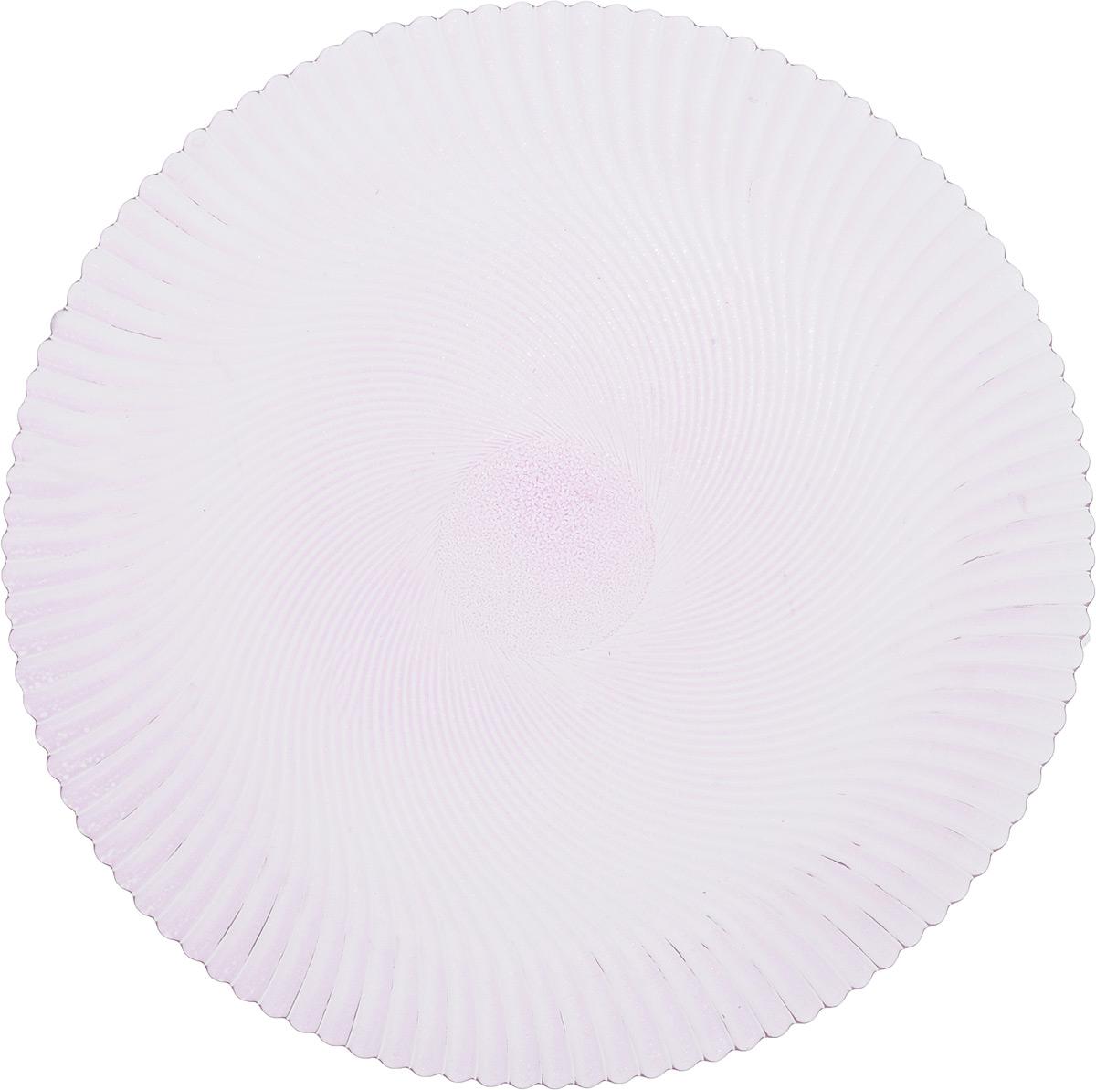 Блюдо NiNaGlass Альтера, цвет: сиреневый, диаметр 32 смVT-1520(SR)Блюдо NiNaGlass Альтера, изготовленное из высококачественного стекла, имеет круглую форму и прекрасно подойдет для подачи нарезок, закусок и других блюд. Внешняя стенка изделия имеет рельефную форму. Такое блюдо украсит сервировку вашего стола и подчеркнет прекрасный вкус хозяйки.Диаметр блюда (по верхнему краю): 32 см.Высота блюда: 2 см.