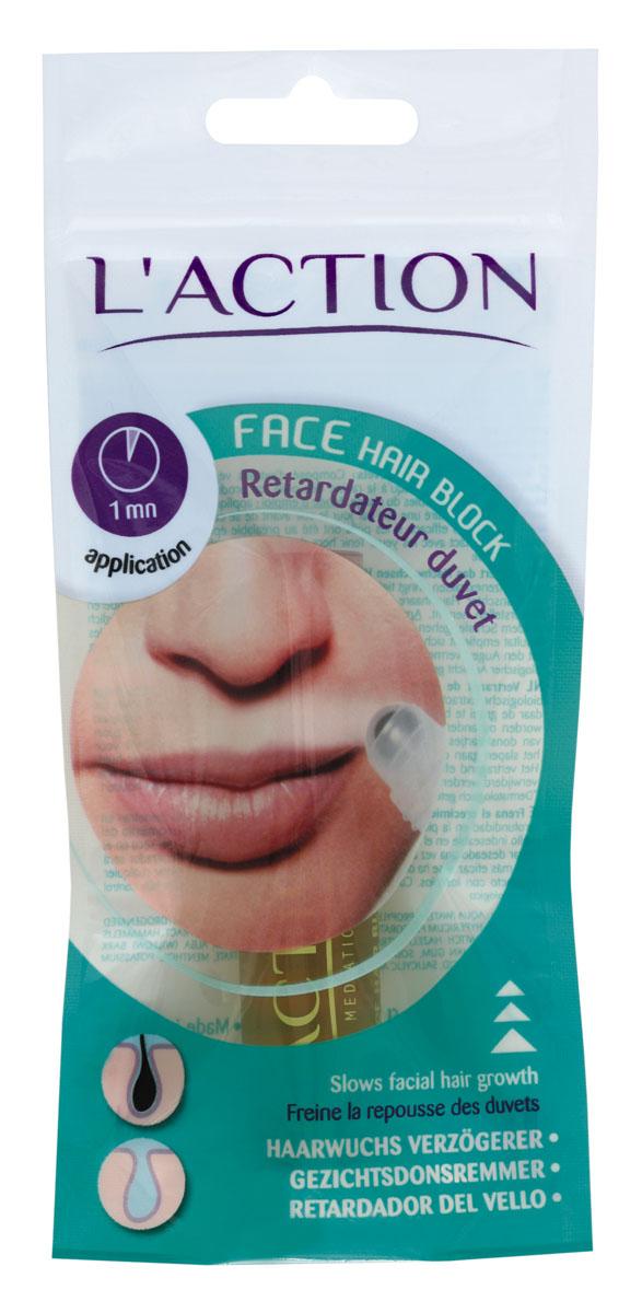 Laction Средство для лица, предотвращающее рост волос Face Hair Block, 10 млFS-00897Высококонцентрированный препарат содержит растительные экстракты, которые проникают глубоко в кожу (до корня волоса) и блокируют рост волос на лице, шее, зоне декольте и др. Средство легко и удобно использовать благодаря встроенному роликовому аппликатору.Активные ингредиенты: - салициловая кислота является мягким антисептиком, разрушает протеины нежелательных волос;- гамамелис оказывает вяжущее действие;- арника успокаивает кожу и борется с застойными явлениями;- мята способствует заживлению кожи;- соя эффективно смягчает.